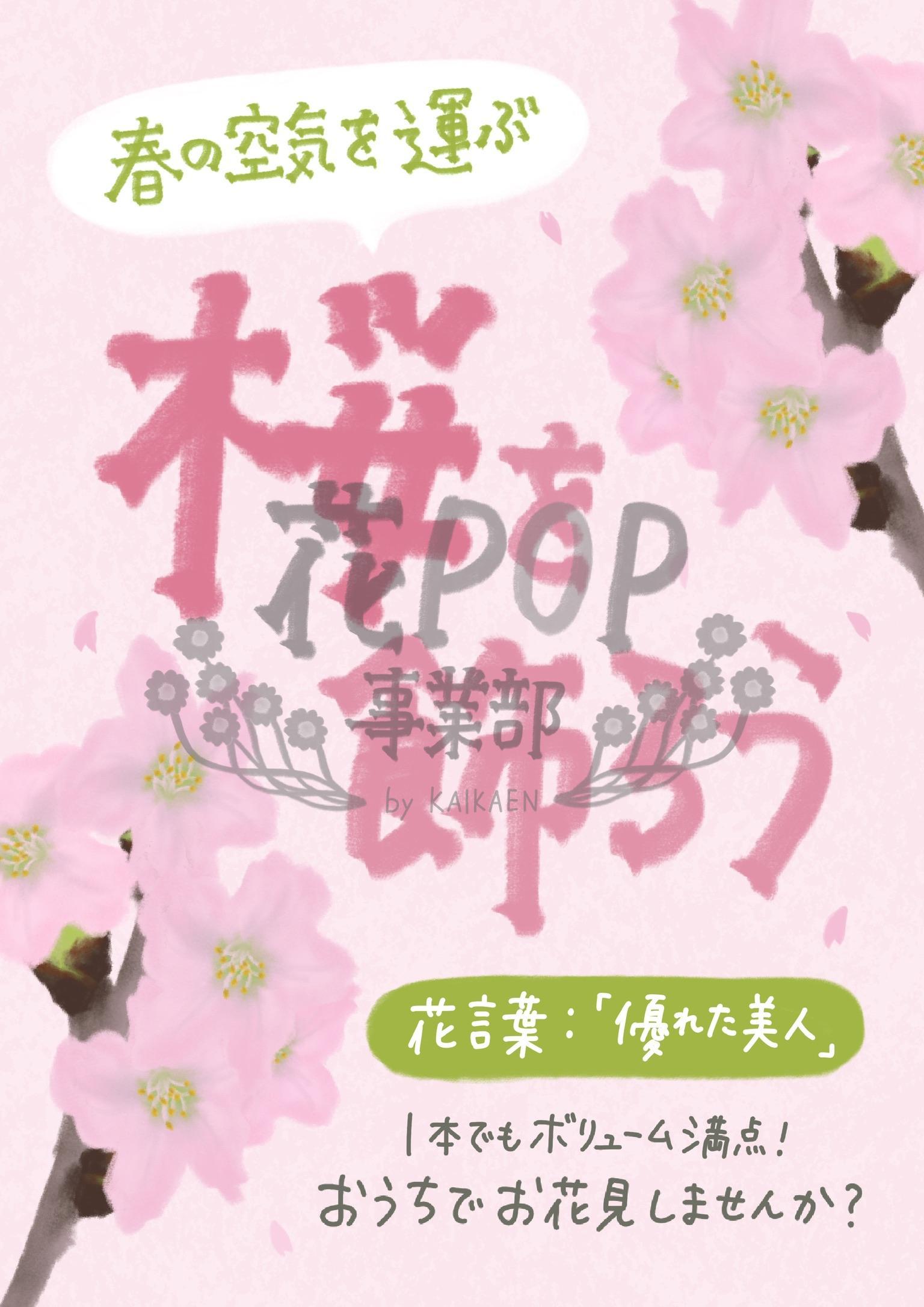 桜を飾ろう